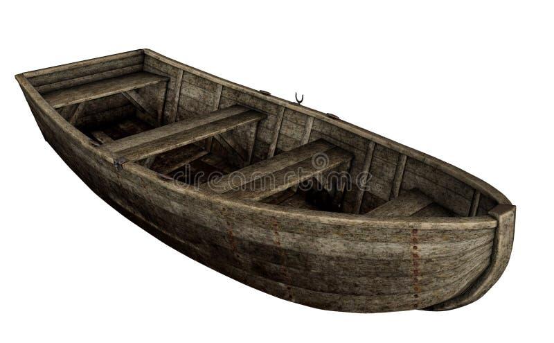 Old Wooden Boat - 3D Render Stock Illustration ...