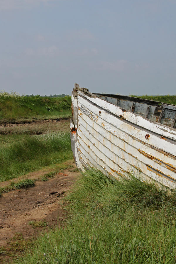 Old Wooden Boat. Decayed, Old and Wooden Boat stock photography