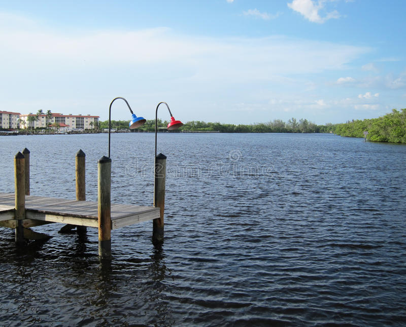 Download Old Wooden Boat Dock By An Inlet In Naples Florida Stock Photo - Image: 21540336