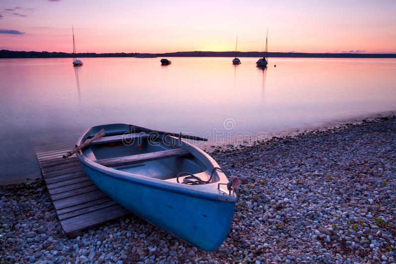 Download Old wooden boat on lake stock image. Image of ocean, water - 41229669