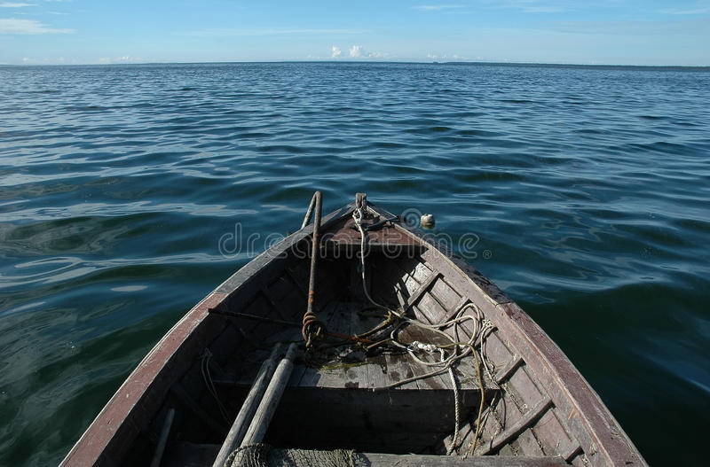 Old Wooden Boat On Sea Royalty Free Stock Photography ...