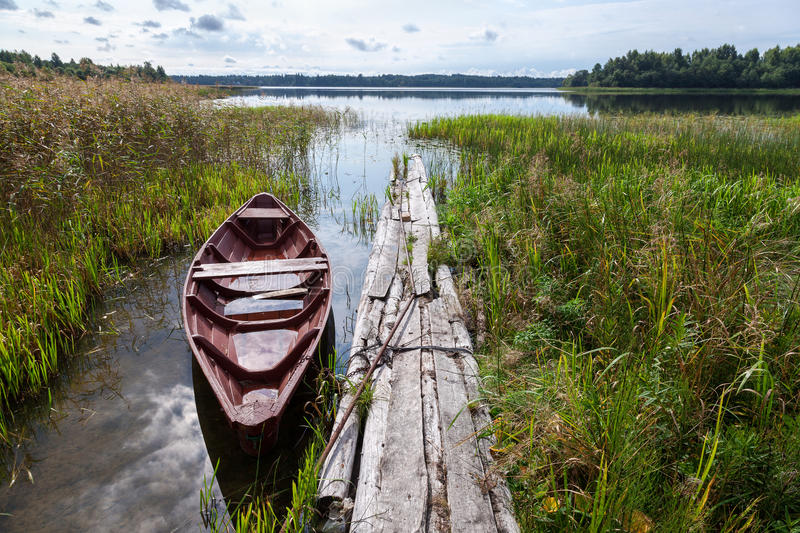 Download Old wooden boat stock image. Image of boat, fall, beauty - 39505817