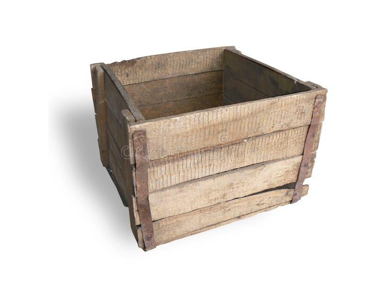 Old wooden box stock photos