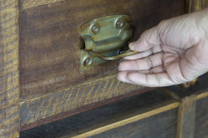 Old wooden box by hand look classic royalty free stock photos