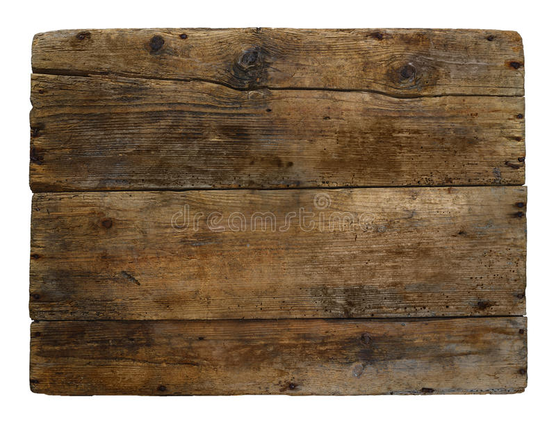 Old wooden box marked time. stock image