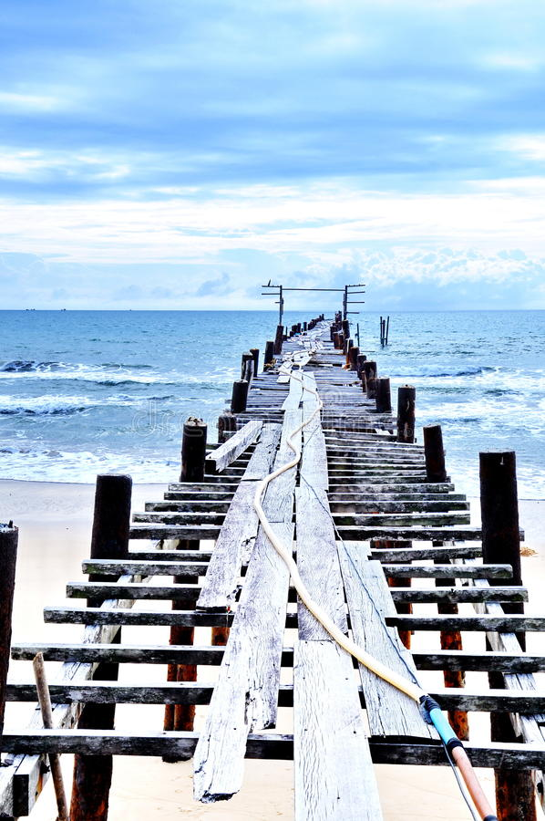 Old wooden bridge royalty free stock images