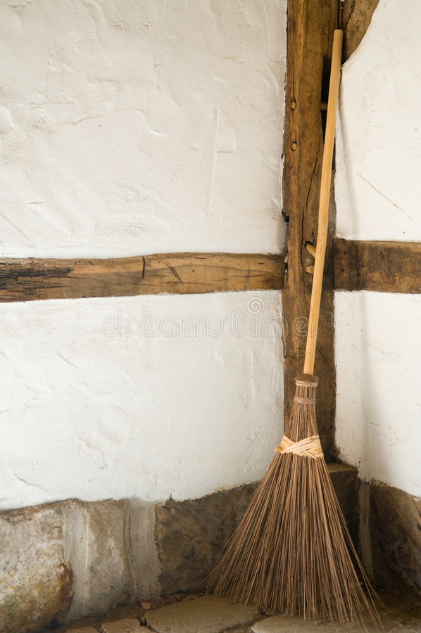 Old Wooden Broom royalty free stock photography