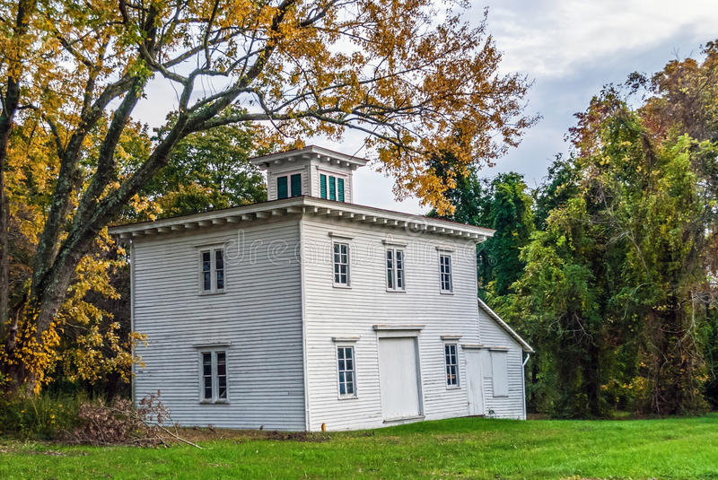 Old Wooden Building. An historic wooden building near Monmouth Battlefield in Freehold New Jersey royalty free stock photos