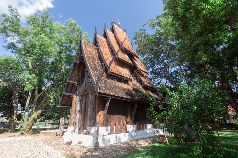 Old wooden building Lanna style at Chiangrai Thailand.  royalty free stock photography