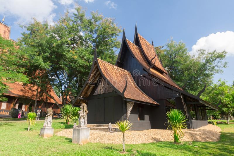 Old wooden building Lanna style at Chiangrai Thailand.  royalty free stock image