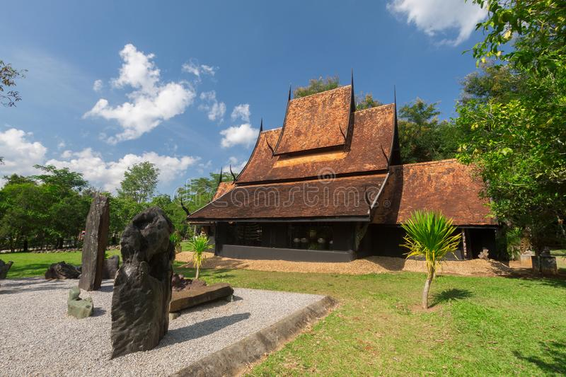Old wooden building Lanna style at Chiangrai Thailand.  stock photos
