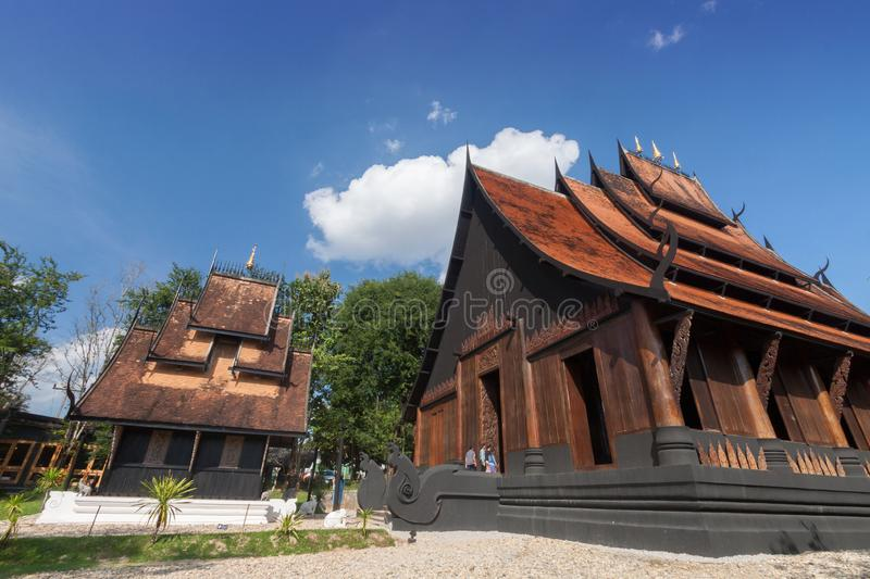 Old wooden building Lanna style at Chiangrai Thailand.  stock photography