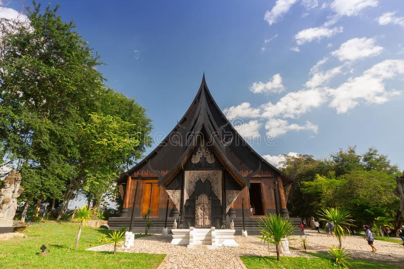 Old wooden building Lanna style at Chiangrai Thailand.  stock image