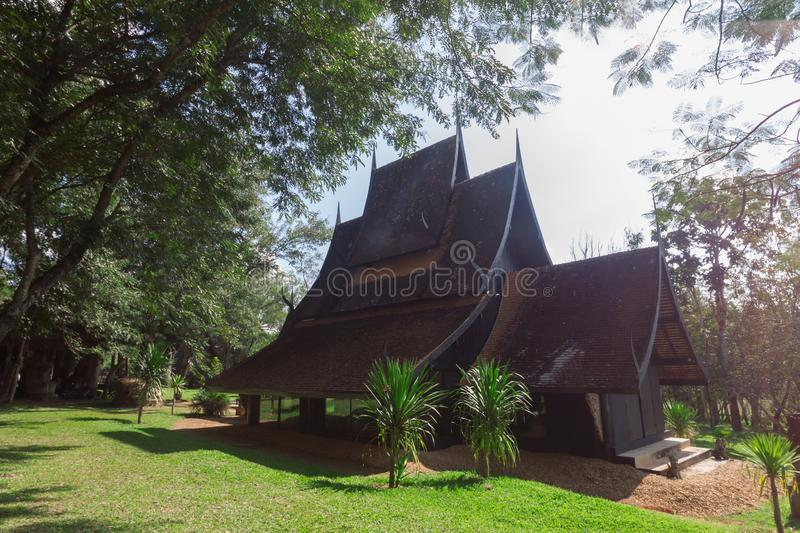 Old wooden building Lanna style at Chiangrai Thailand.  royalty free stock photos