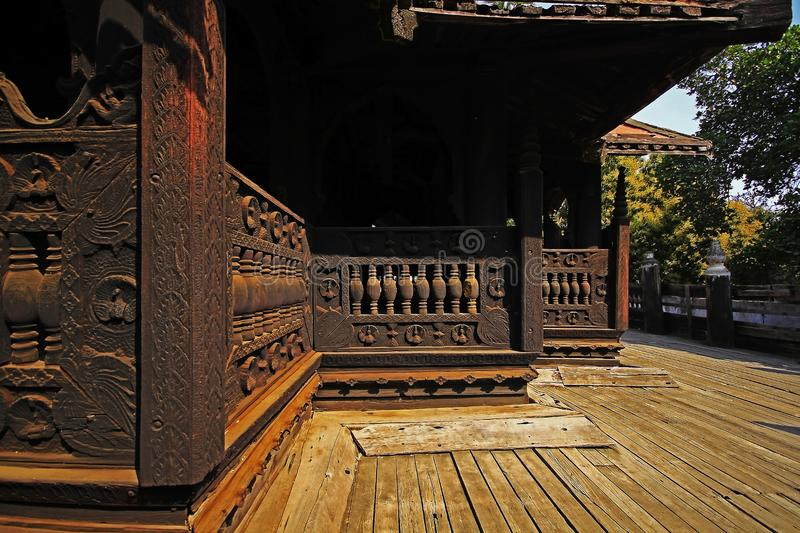 The old wooden building several years old royalty free stock photos