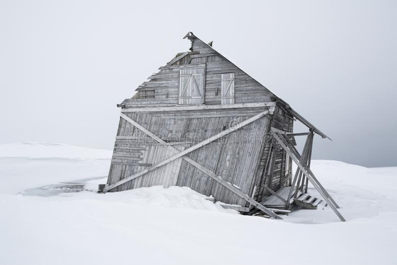 Old wooden building, Spitsbergen stock photography