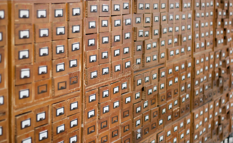 Download Old Wooden Card Catalogue Royalty Free Stock Photos - Image: 13400858