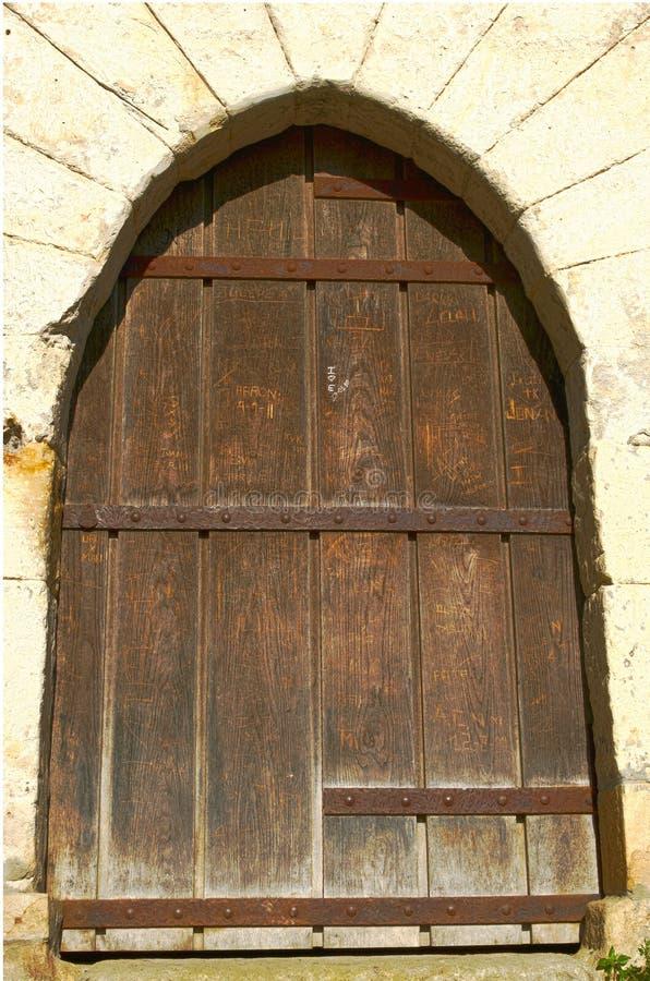Old wooden castle door stock photo. Image of ancient - 21842518