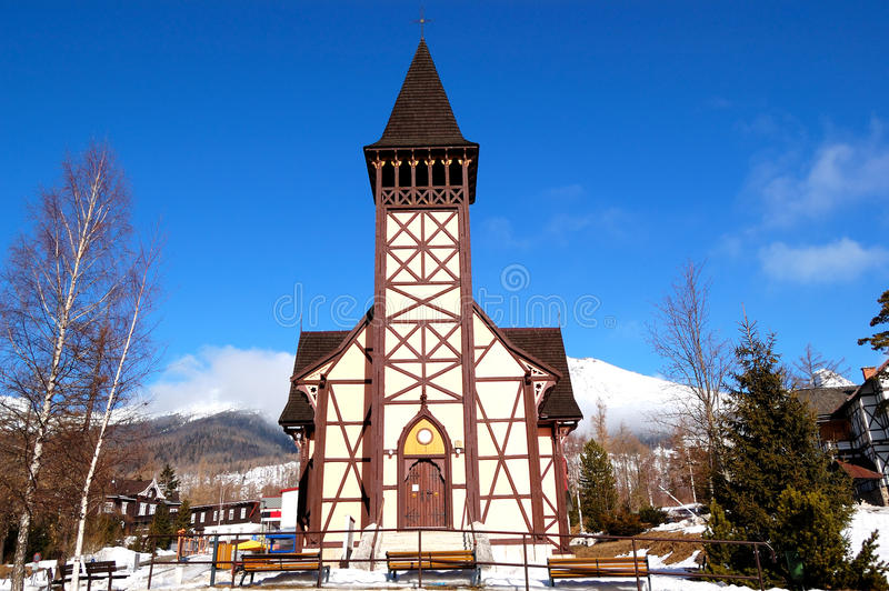 Download The Old Wooden Catholic Church Royalty Free Stock Photos - Image: 25537058