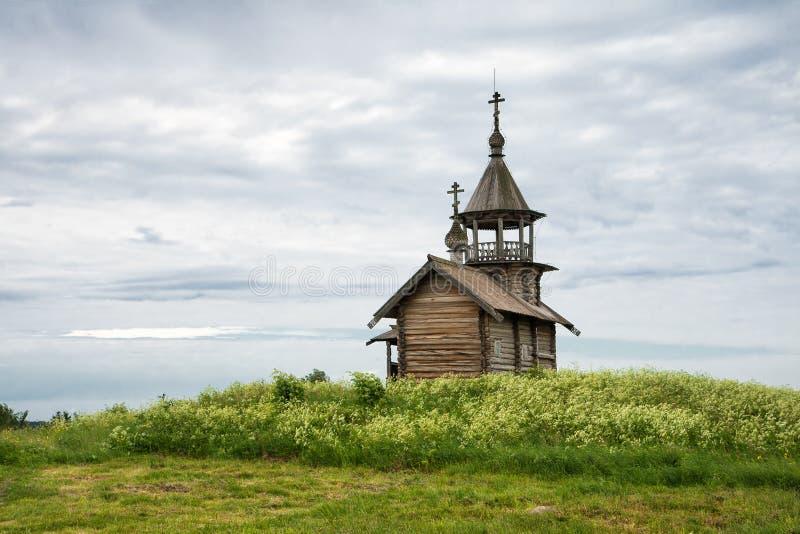 Old wooden chapel, Kizhi stock photography
