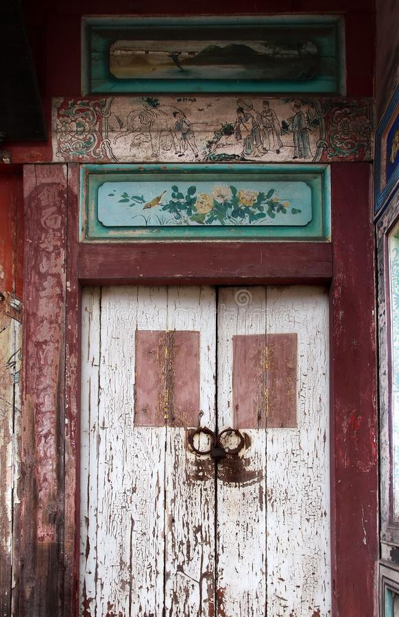 Old Wooden Chinese Door stock images