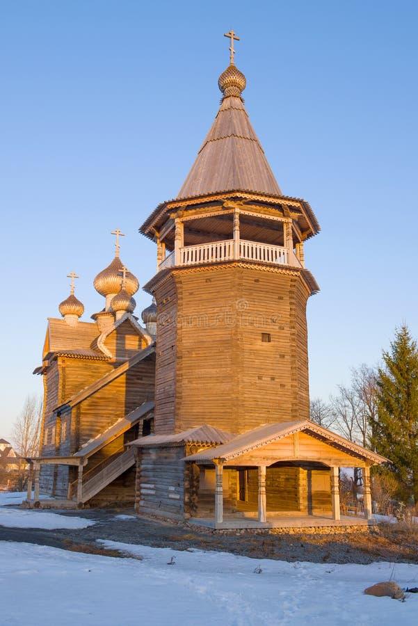 The old wooden church of Dmitry the Solunsky Myrrh-streaming stock photo