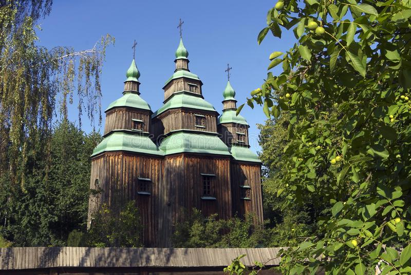 An old wooden church. royalty free stock photography