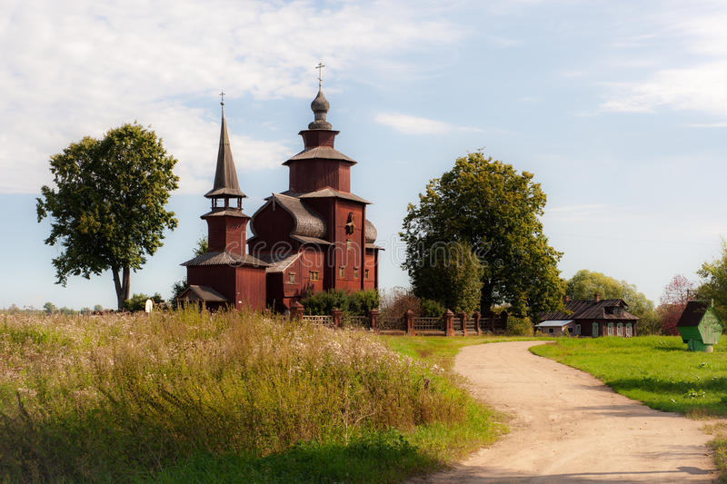 Old wooden church in the Russian village