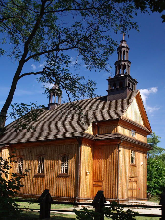 Old, wooden church stock image