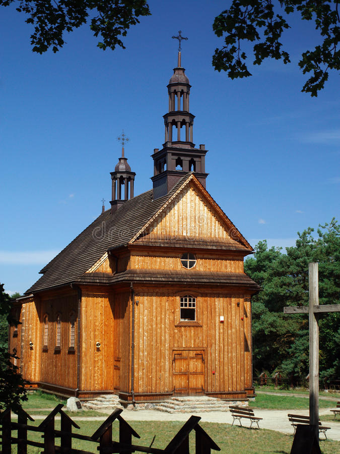 Old, wooden church stock photos
