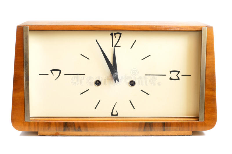 Download Old wooden clock stock photo. Image of carved, early - 24404200