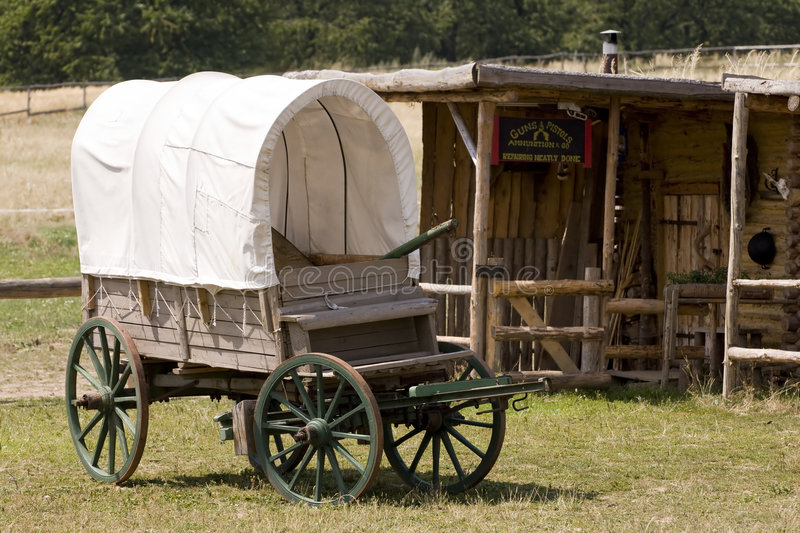 old wooden coach royalty free stock photography