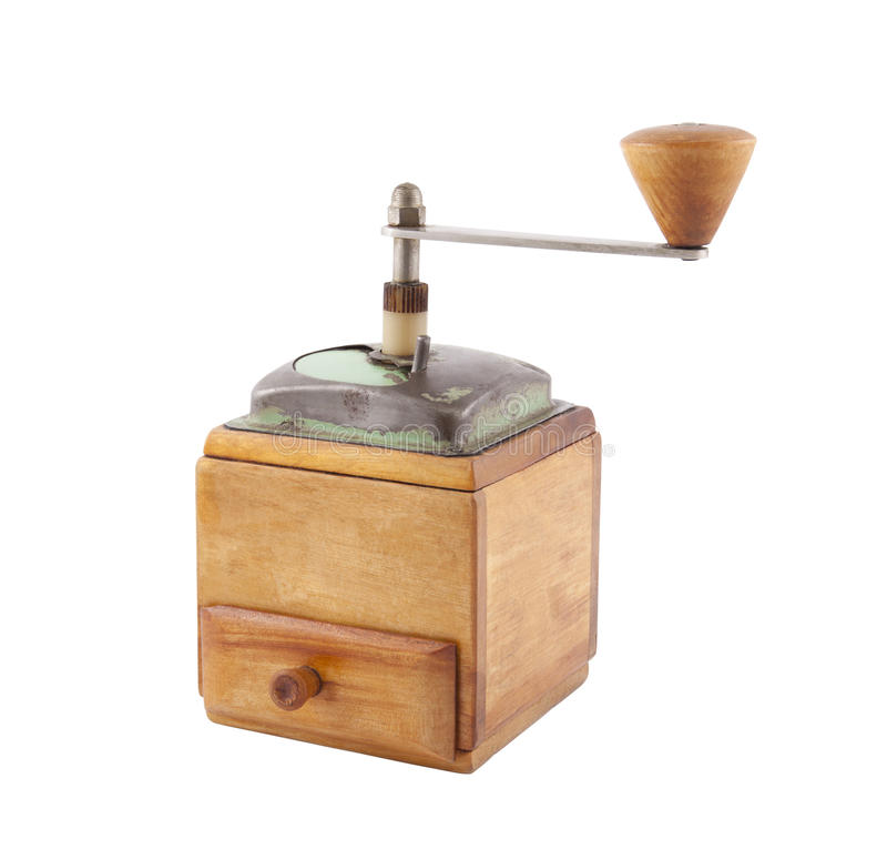 Old Wooden Coffee Grinder Royalty Free Stock Image