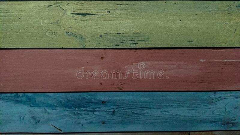 Old wooden colorful plank texture background royalty free stock photography
