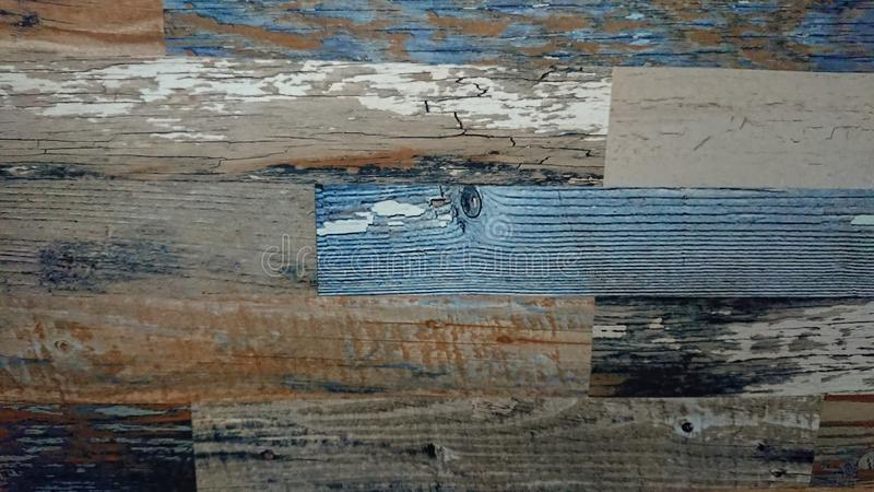 Old wooden colorful plank texture background royalty free stock photo