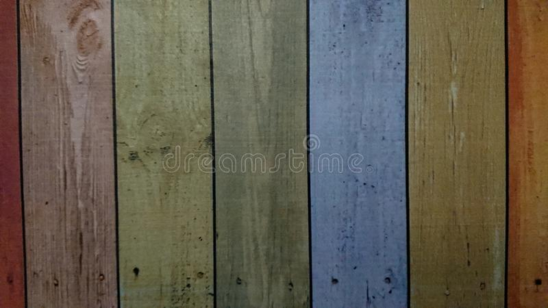 Old wooden colorful plank texture background royalty free illustration