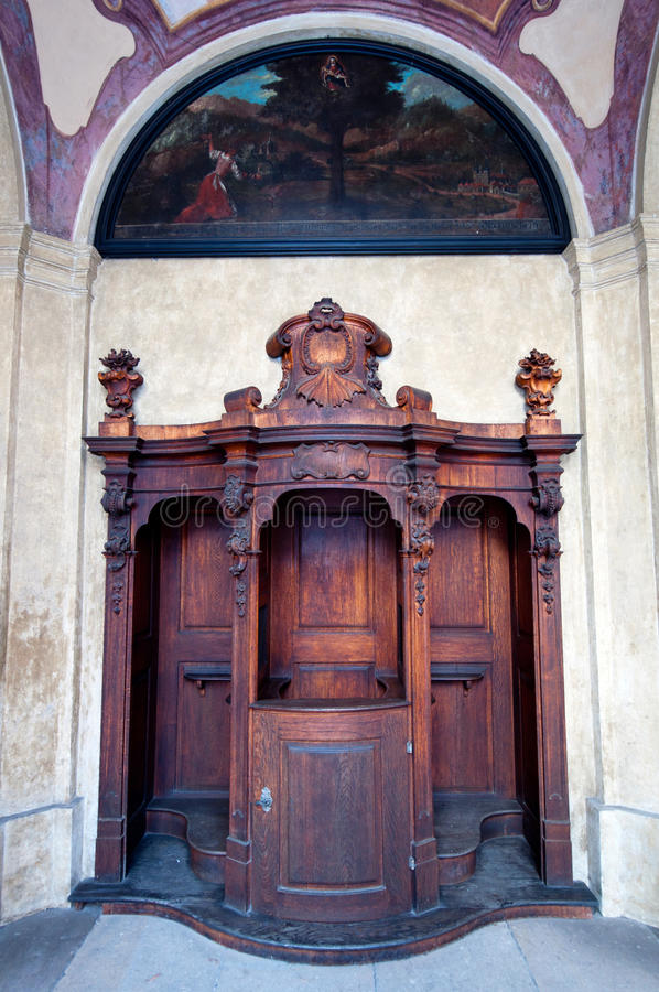 Free Old Wooden Confessional Royalty Free Stock Photo - 17650165