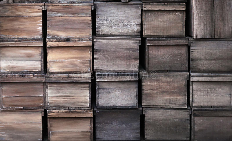 Old wooden crates texture. Old wooden crates rustic texture royalty free stock photos