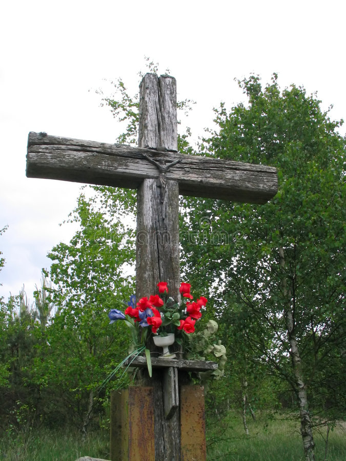 Free Old Wooden Cross 3 Stock Photography - 235282