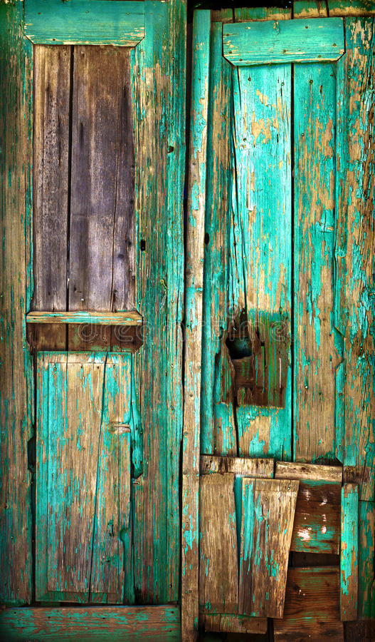 Old wooden door. royalty free stock image