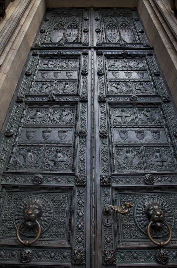 Download Old wooden door stock photo. Image of keystone, medieval - 21519504