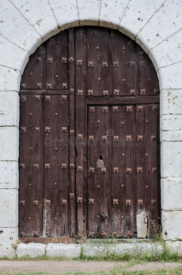 Download Old wooden door stock photo. Image of texture, closed - 26864664