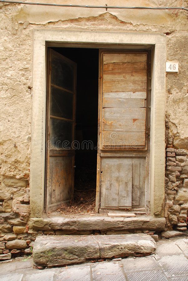 Old Wooden Door Ajar
