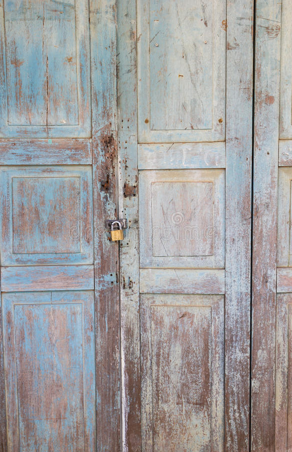Old wooden door royalty free stock images