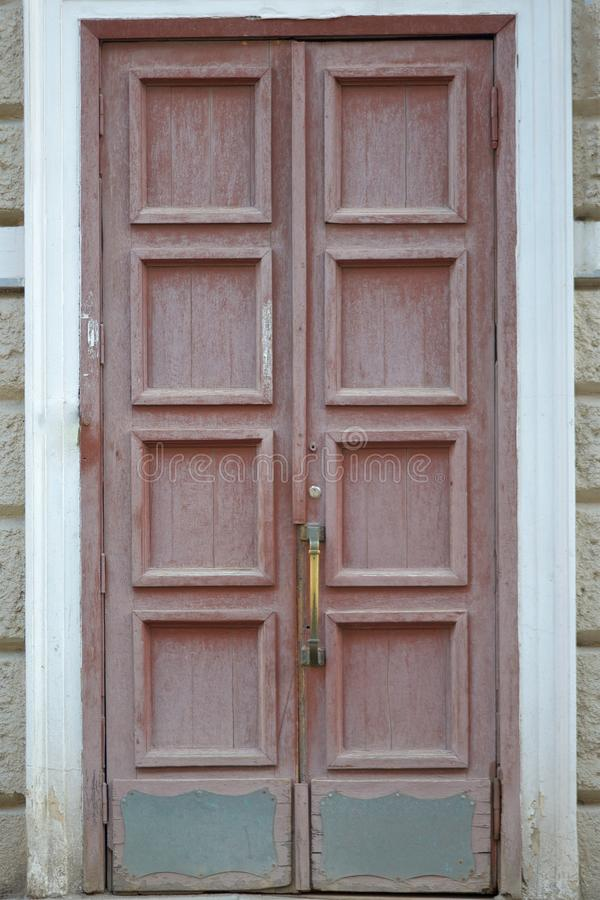 Old wooden door. royalty free stock photography