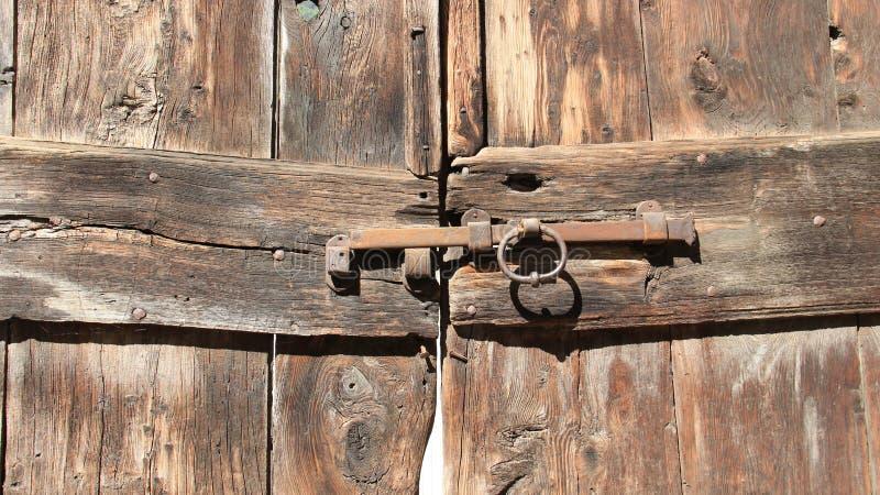 Old Wooden Door And Latch stock photos