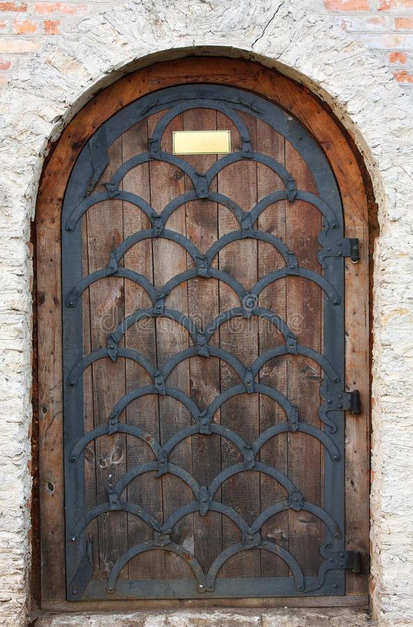 Old Wooden Door From Medieval Era Stock Image Image