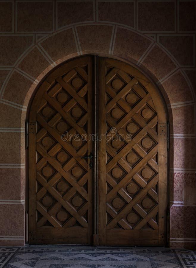 Old Wooden Door Stock Image Image Of Glass Fort Paint