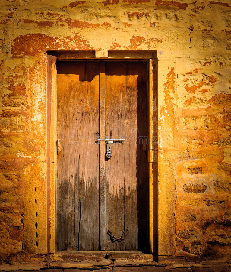 Old Wooden Door Vintage Background Stock Photo