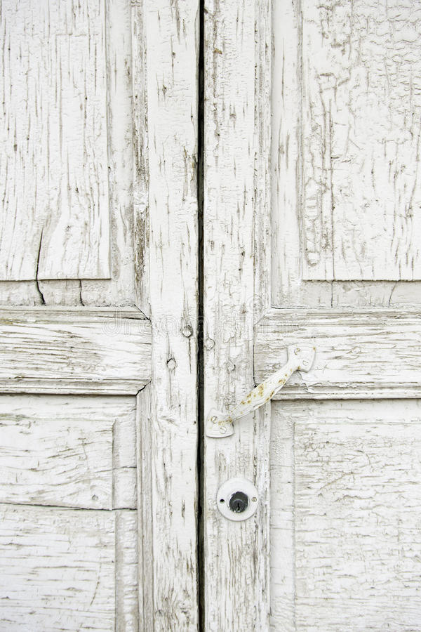 Old Wooden Door White Detail Of A Battered On The Street Textured Background